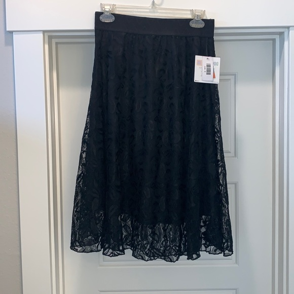 Lularoe black lace Lola skirt